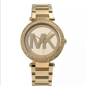 NWT Michael Kors MK logo  MK5784 Women Watch GOLD